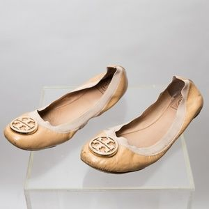Tory Burch Patent Leather Flats Size 10